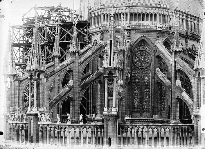 Cathédrale Notre-Dame Abside, partie haute, Lajoie, Abel,