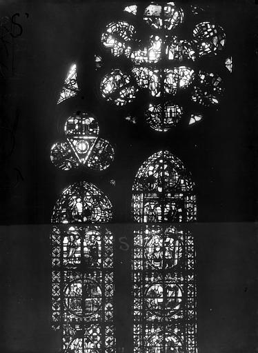 Cathédrale Notre-Dame Chapelles du choeur, vitrail S', Gaudin,