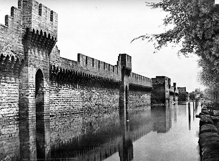 Remparts Vue extra-muros, côté sud, Baldus, Edouard (photographe),