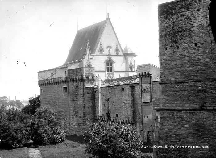 Château des ducs de Bretagne Enceinte fortifiée et chapelle, Mieusement, Médéric (photographe),