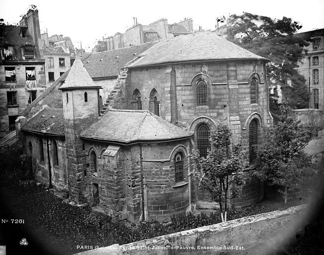 Eglise Saint-Julien-le-Pauvre Côté sud-est, Durand, Eugène (photographe),