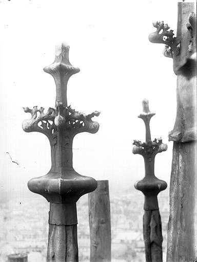Cathédrale Notre-Dame Clocher à l'Ange, épis, Lajoie, Abel,