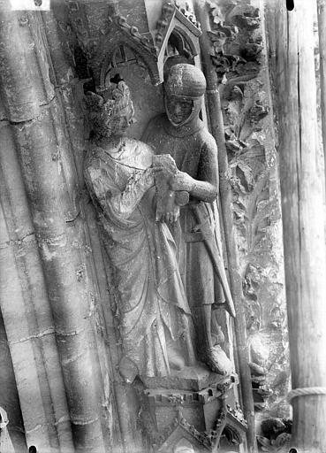 Cathédrale Notre-Dame Portail ouest, rose, David et Saül, Lajoie, Abel,