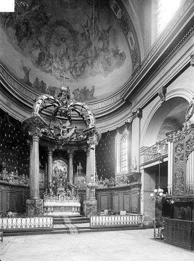 Eglise Notre-Dame ou de la Gloriette Vue intérieure du chœur, Heuzé, Henri (photographe),