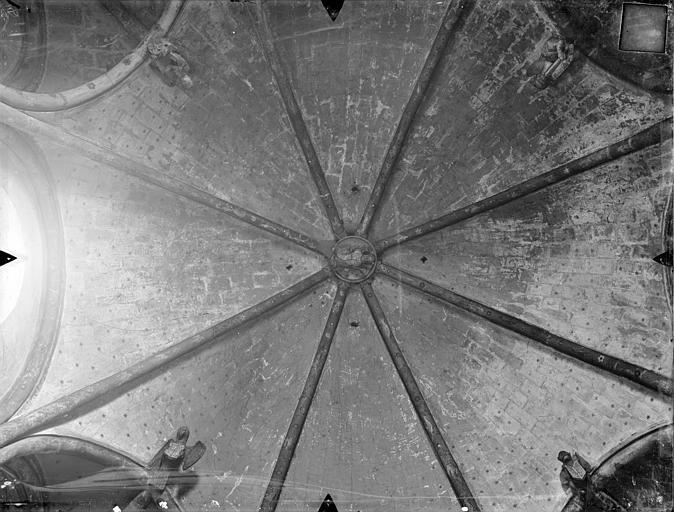 Eglise Sainte-Radegonde Voûte de la sacristie, Gossin (photographe),
