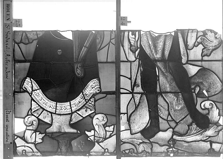 Eglise Saint-Godard Vitrail baie 18, Arbre de Jessé, neuvième panneau, en haut, Heuzé, Henri (photographe),