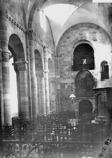 Eglise Notre-Dame Nef, vue du choeur, Durand, Georges (photographe à Amiens),