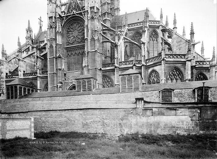 Eglise Saint-Maclou Façade sud, Durand, Jean-Eugène (photographe),