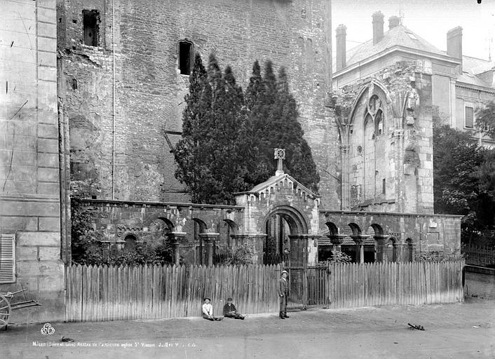 Eglise Saint-Vincent Restes cloître, Durand, Eugène (photographe),