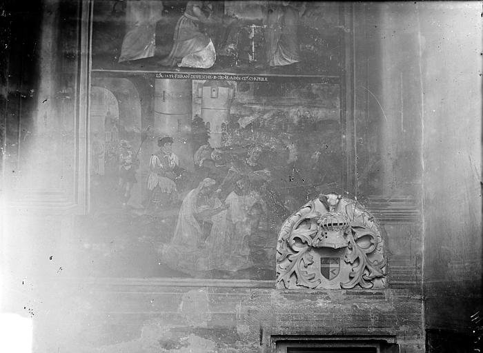 Eglise Saint-Michel Peinture murale : Scène de la Passion du Christ, Gossin (photographe),