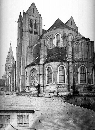 Abbaye Saint-Nicolas (ancienne) Eglise, abside, Durand, Eugène (photographe),