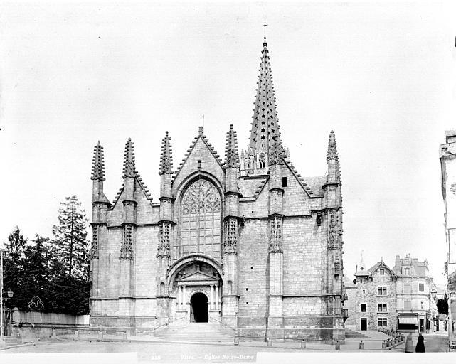 Eglise Notre-Dame Façade ouest, Neurdein Frères (photographes),