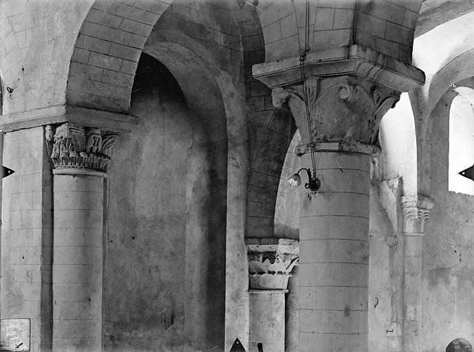 Eglise Saint-Hilaire-le-Grand Chapiteaux du bas-côté nord, Gossin (photographe),