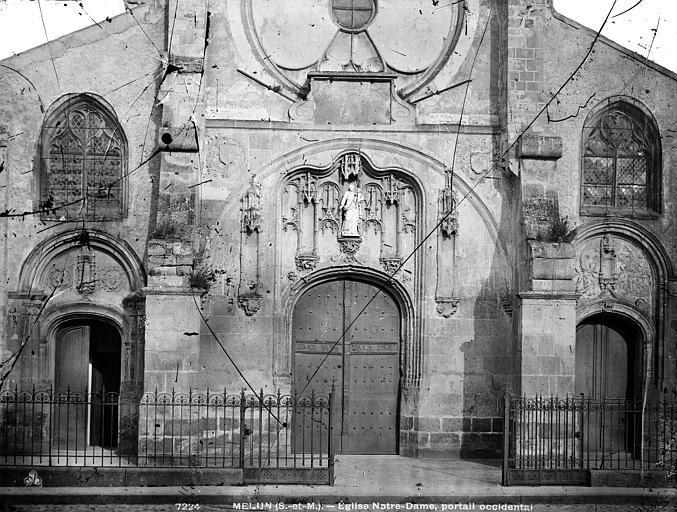 Eglise Notre-Dame Portail ouest, Durand, Eugène (photographe),