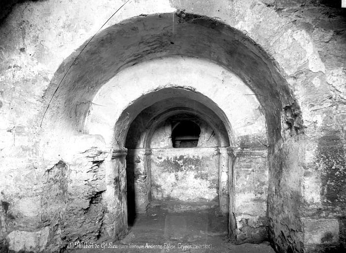 Eglise abbatiale Saint-Philbert Crypte, Mieusement, Médéric (photographe),