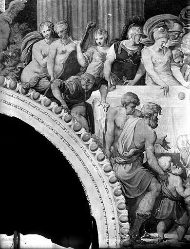 Domaine national, château Peintures murales de la galerie Henri II, partie gauche du Banquet, Service photographique,
