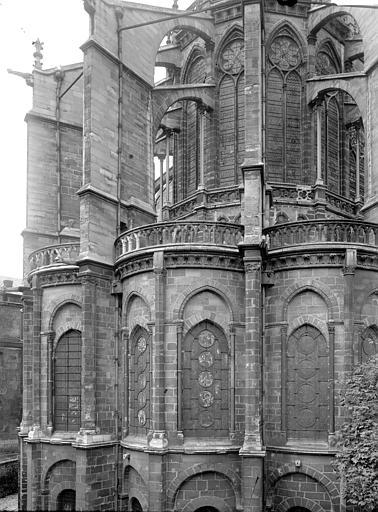 Eglise abbatiale Partie de l'abside, Enlart, Camille (historien),
