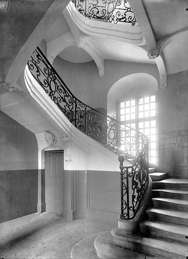 Abbaye aux Hommes (ancienne) 5ème escalier, Durand, Jean-Eugène (photographe),