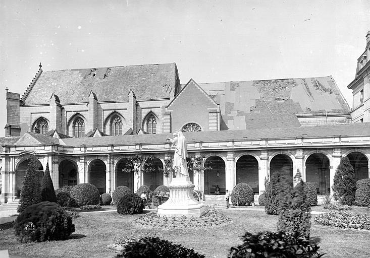Abbaye Saint-Serge (ancienne) Eglise, façade sud, Durand, Eugène (photographe),