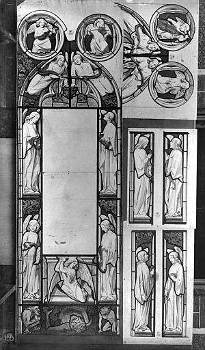 Château Dessin : Vitrail de la chapelle, Durand, Jean-Eugène (photographe),