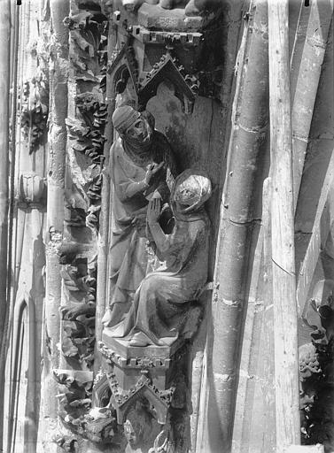 Cathédrale Notre-Dame Voussure de la rose ouest, Jugement de Salomon, Lajoie, Abel,