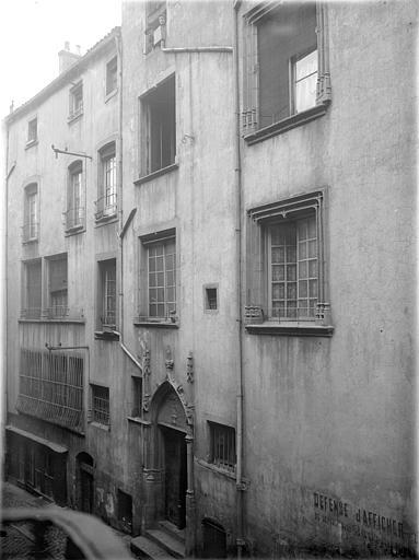 Maison du 15ème siècle Façade  sur rue, Lefèvre-Couton (photographe),