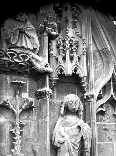 Cathédrale Notre-Dame Pignon du bras nord du transept, la Vierge, après restauration, Lajoie, Abel,