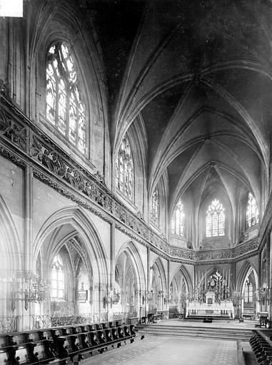 Eglise Saint-Jean Vue intérieure du choeur, Heuzé, Henri (photographe),