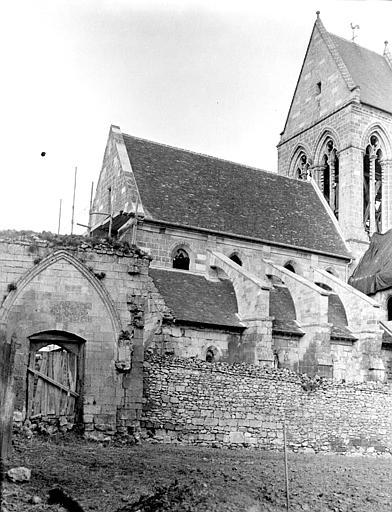 Eglise Façade : partie, Chaine, Henri (architecte),