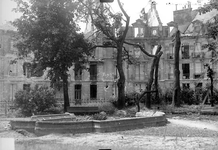 Vue d'un square, Goubeau (photographe),