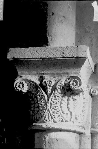 Eglise Saint-Eutrope Chapiteau, Enlart, Camille (historien),