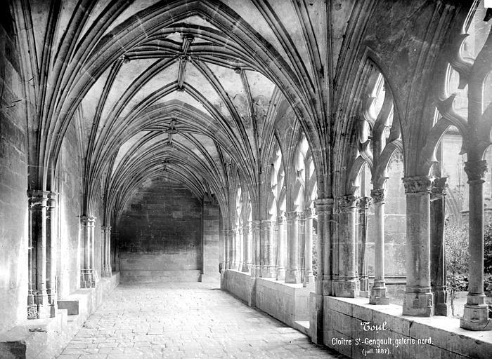 Eglise Saint-Gengoult Cloître : vue intérieure d'une galerie, Mieusement, Médéric (photographe),
