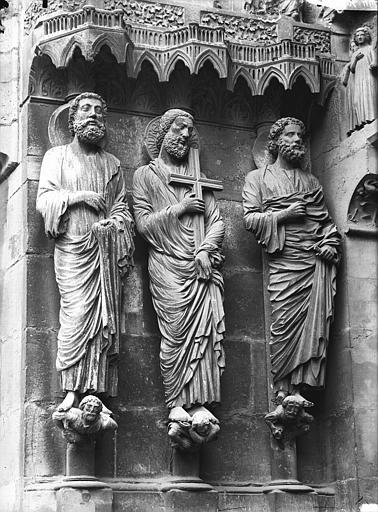 Cathédrale Notre-Dame Portail nord, portail de la Résurrection, ébrasement gauche, Lajoie, Abel,