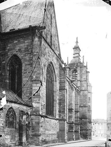 Eglise Saint-Etienne Façade latérale, Louzier (photographe),