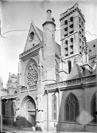 Eglise Saint-Germain-l'Auxerrois Bras sud du transept et clocher, Durand, Eugène (photographe),