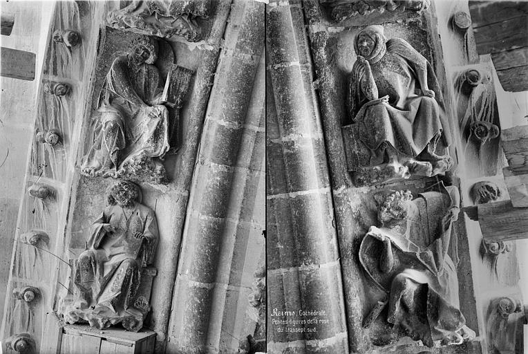 Cathédrale Notre-Dame Transept sud : détail des figures de la rose, Mieusement, Médéric (photographe),
