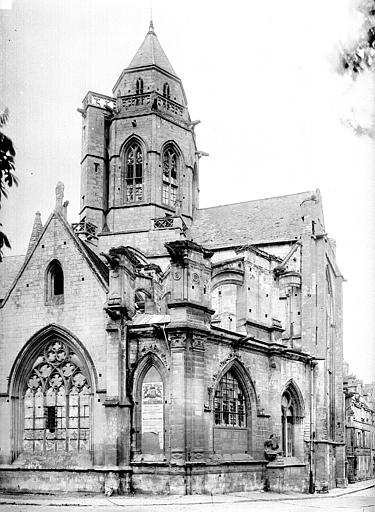 Eglise Saint-Etienne-le-Vieux (ancienne) Abside et clocher, Durand, Eugène (photographe),