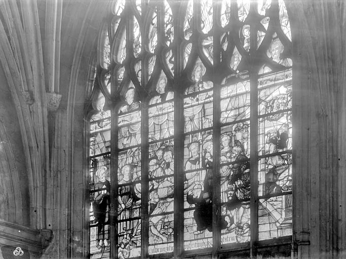 Eglise Notre-Dame Vitrail : Mort de la Vierge, Durand, Jean-Eugène (photographe),