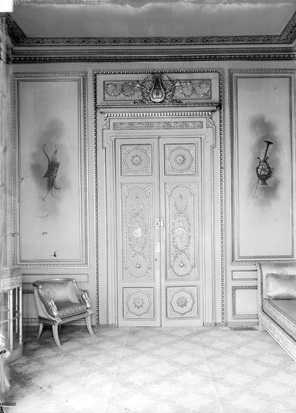 Palais de l' Elysée Porte, fauteuil et causeuse, Durand, Eugène (photographe),