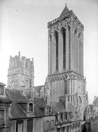 Eglise Saint-Jean Ensemble nord-ouest : Clocher ouest et tour centrale, Heuzé, Henri (photographe),