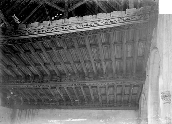 Hôtel Le Vergeur ; Musée du Vieux Reims Vue intérieure : Plafond, Sainsaulieu, Max (photographe),