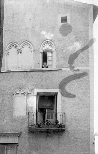 Maison Façade: partie, Enlart, Camille (historien),