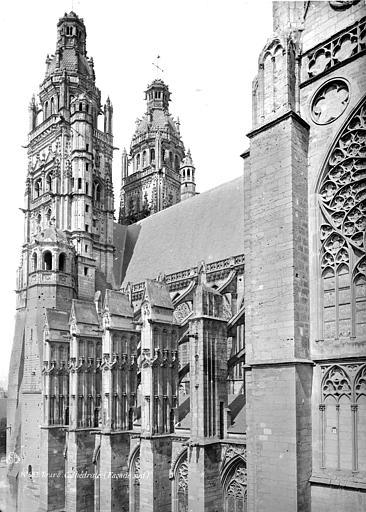 Cathédrale Saint-Gatien Façade sud : partie ouest, Mieusement, Médéric (photographe),