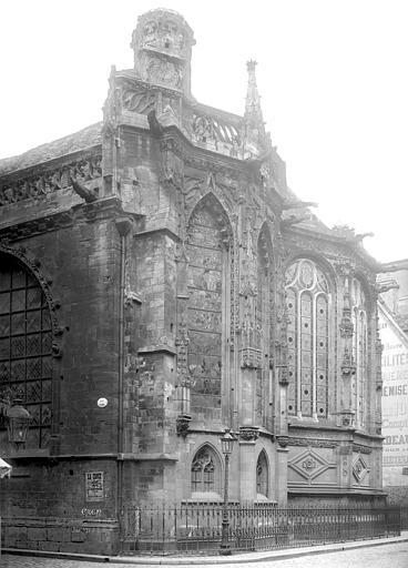 Eglise Notre-Dame-de-Froide-Rue (ancienne) ou Eglise Saint-Sauveur (actuelle) Abside, côté sud-est, Durand, Jean-Eugène (photographe),
