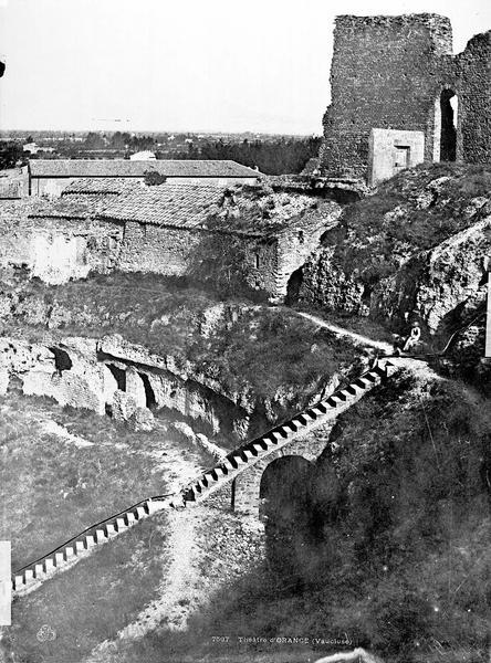 Amphithéâtre Gradins (partie droite du panorama), Baldus, Edouard (photographe),