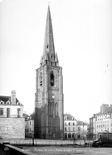 Eglise Saint-Sauveur (ancienne basilique) Tour clocher isolée, côté ouest, Mieusement, Médéric (photographe),