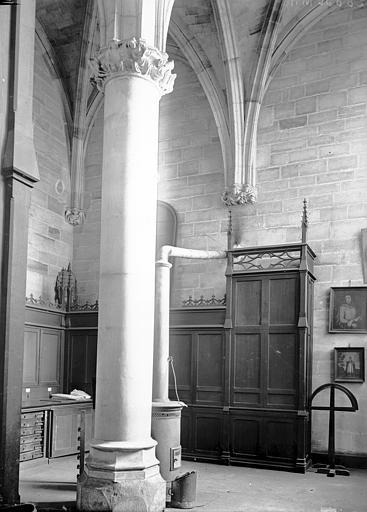 Cathédrale Notre-Dame Salle capitulaire: intérieur, Enlart, Camille (historien),
