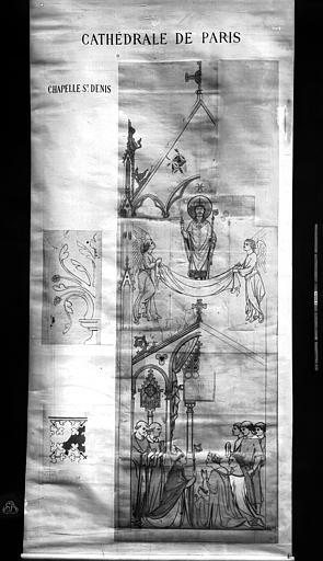 Cathédrale Notre-Dame Peintures murales d'après les dessins de Viollet-le-Duc, Durand, Eugène (photographe), 75 ; Paris ; Médiathèque de l'Architecture et du Patrimoine