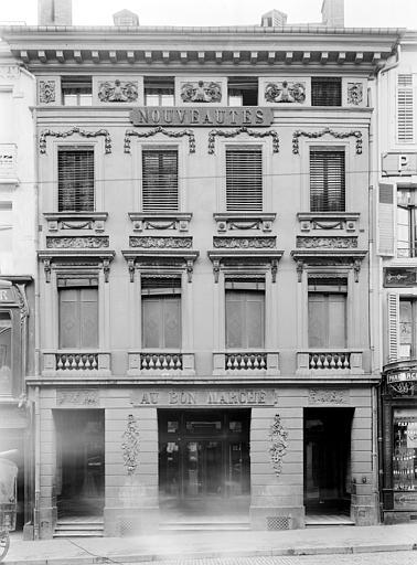 Maison de Clodion Façade sur rue (ensemble), Durand, Jean-Eugène (photographe),