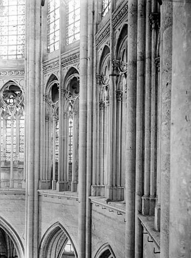 Cathédrale Triforium du choeur, Chaine, Henri (architecte),